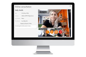 video conference call via telehab software