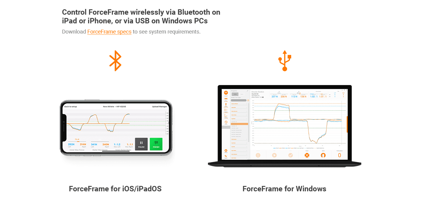 ForceFrame connectivity